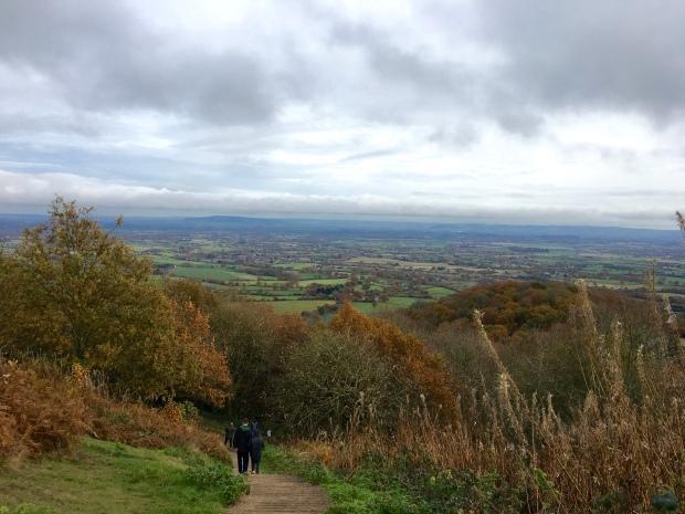 Walking up towards British Camp in the Malvern Hills