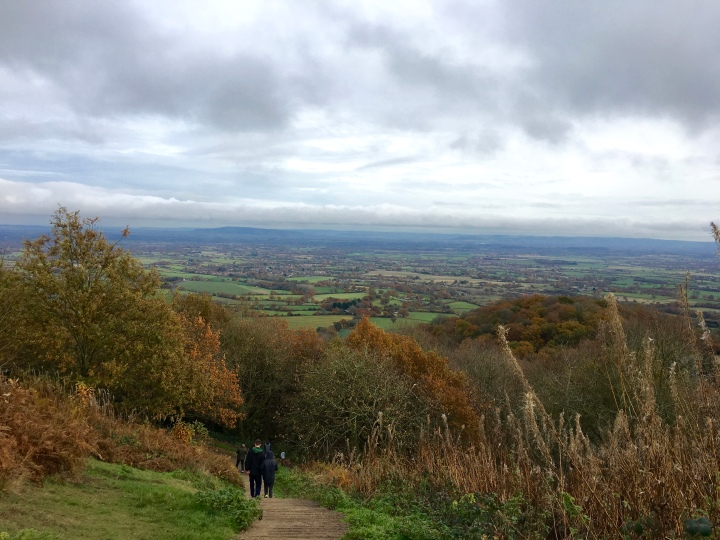 Walking up towards British Camp in the Malvern Hills
