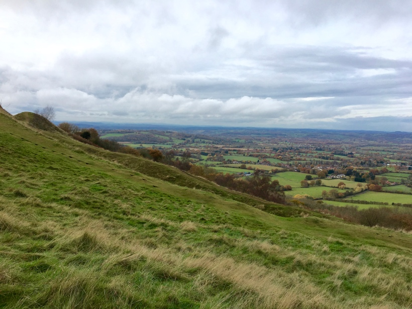 Looking towards Herefordshire at British Camp on the Malvern Hills
