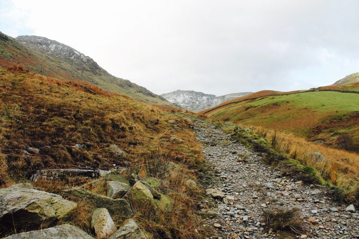 Path to Birk Fell in the Lake District National Park, United Kingdom