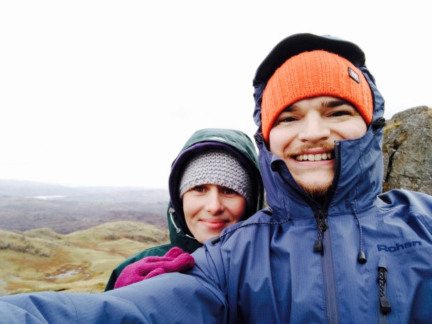 Walkers atop of Birk Fell in the Lake District National Park