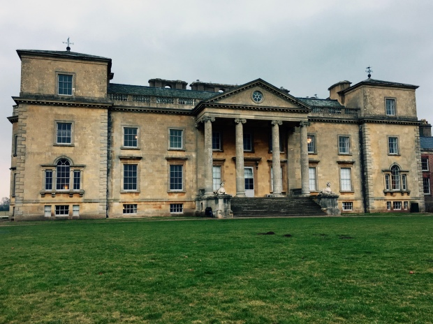 The back entrance to National Trust property, Croome Court, in Worcestershire.