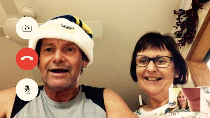 A video call to my parents in Australia.