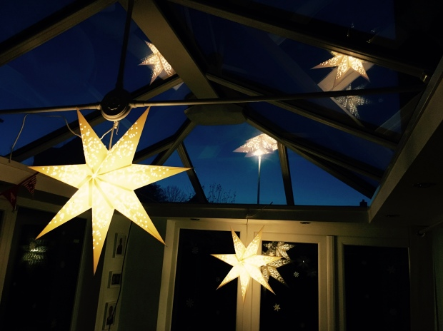 Star lights in the conservatory.