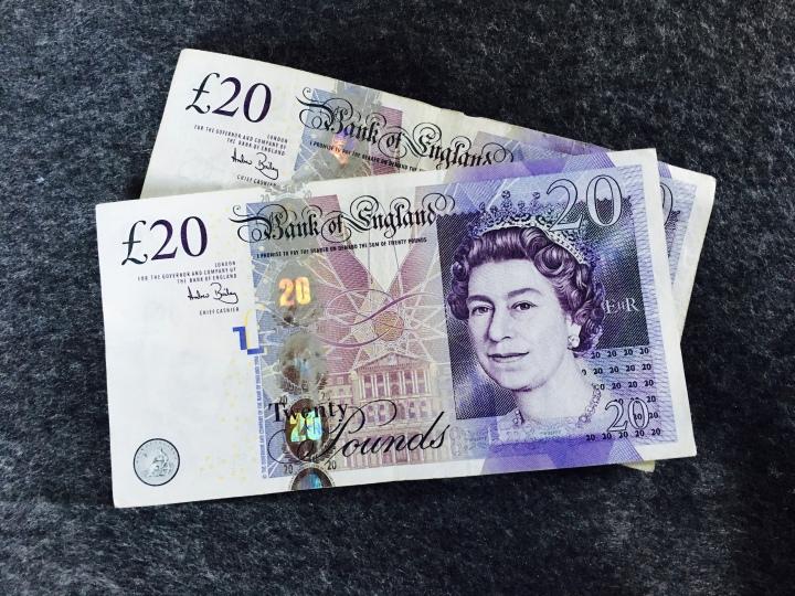 Two twenty pound notes