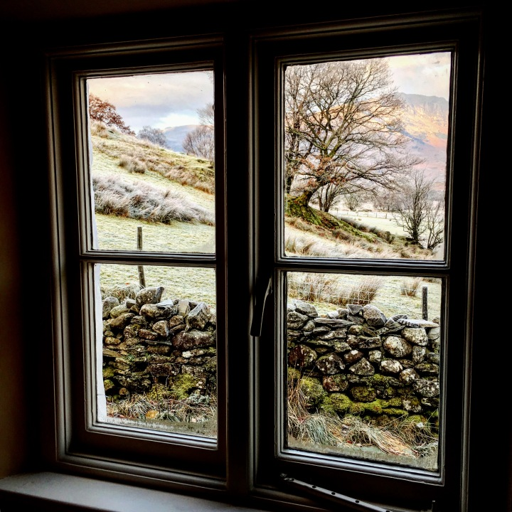 The view from Low Hallgarth, a National Trust cottage in the Lake District.