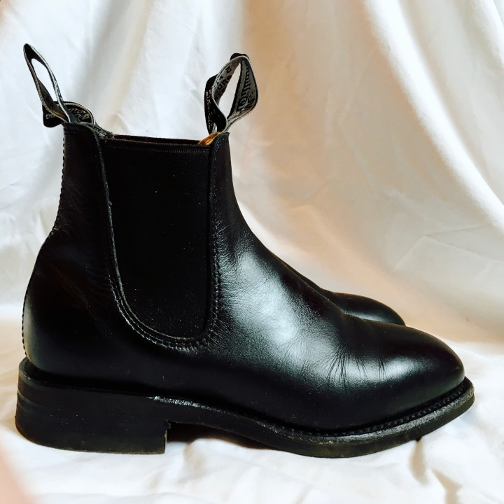 Black leather R.M. Williams Crafstman boots.
