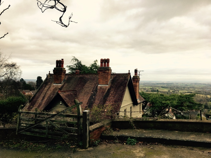 House on the eastern edge of the Malvern Hills overlooking the Severn Valley