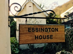 'Essignton House' name plaque outside of English house