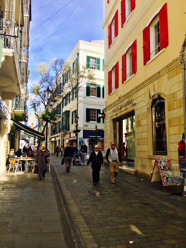 Main Street in Gibraltar.