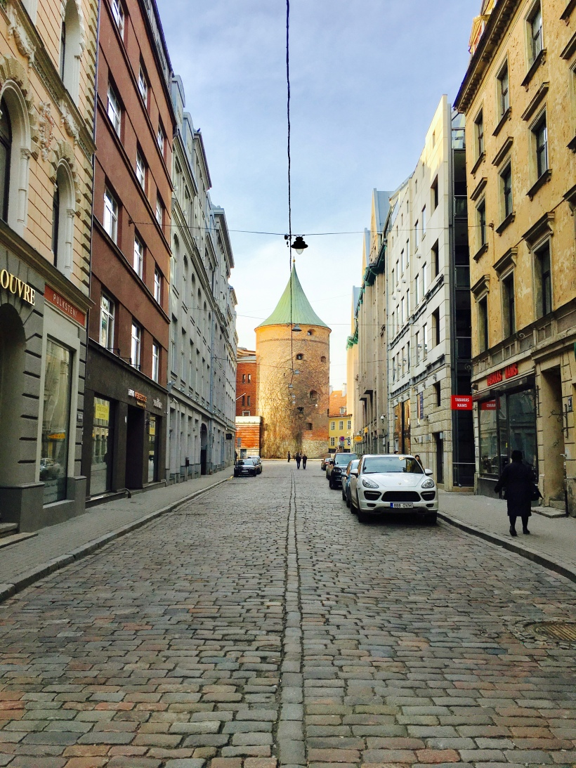 The cobbled streets of Old Town in the Latvian capital of Riga.