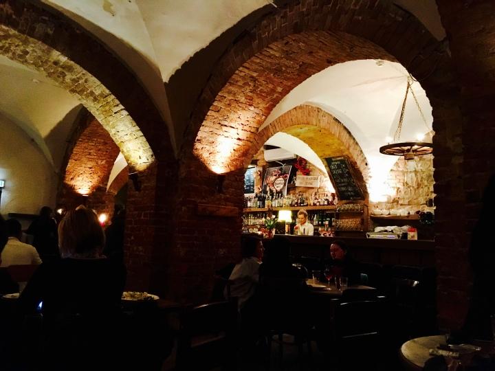 Inside Folkklubs Ala Pragrabs in Riga, Latvia.