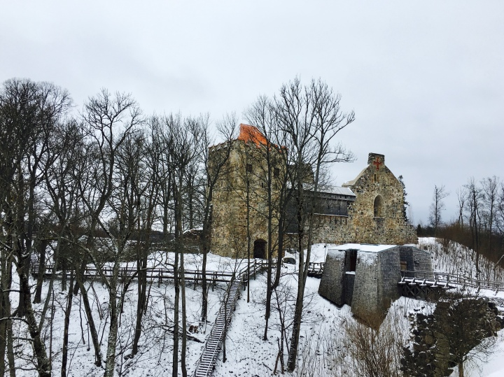 Castle of the Livonia Order in Sigulda, Latvia.