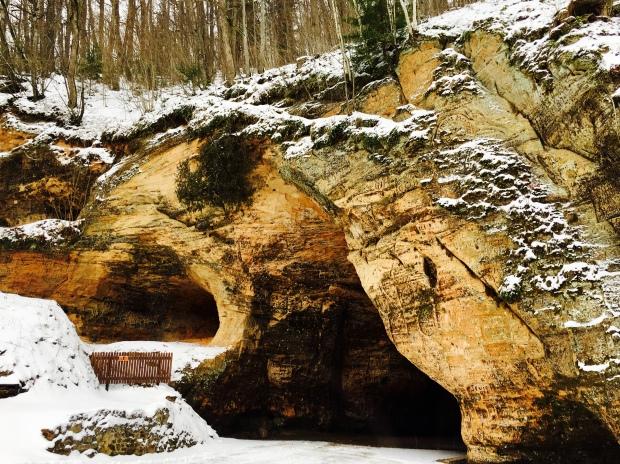 Gutman's Cave, Gauja National Park, Latvia.