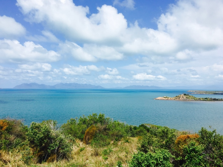 Looking out over the Whitsunday Islands from Bowen's Flagstaff Hill