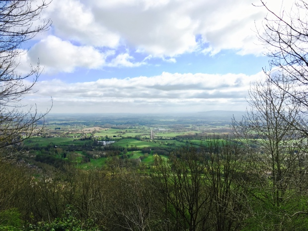 Looking out over the Severn Valley from the Malvern Hills.
