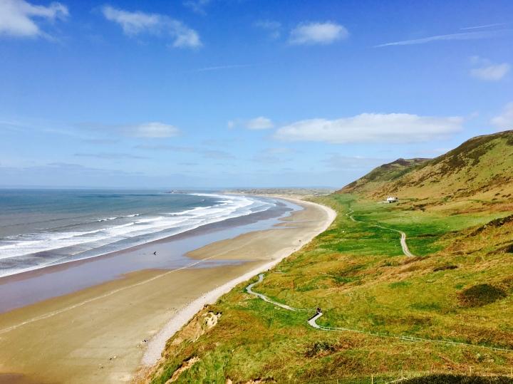 Rhossili Beach, Gower Peninsula, Wales.