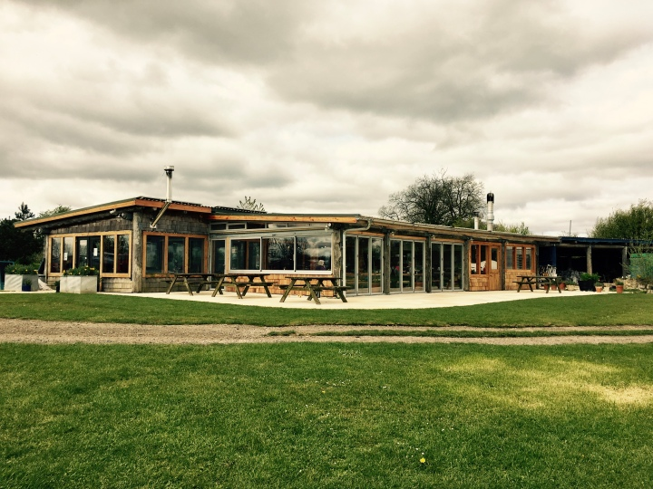 The cafe at Thistledown Farm near Nympsfield, Gloucestershire.
