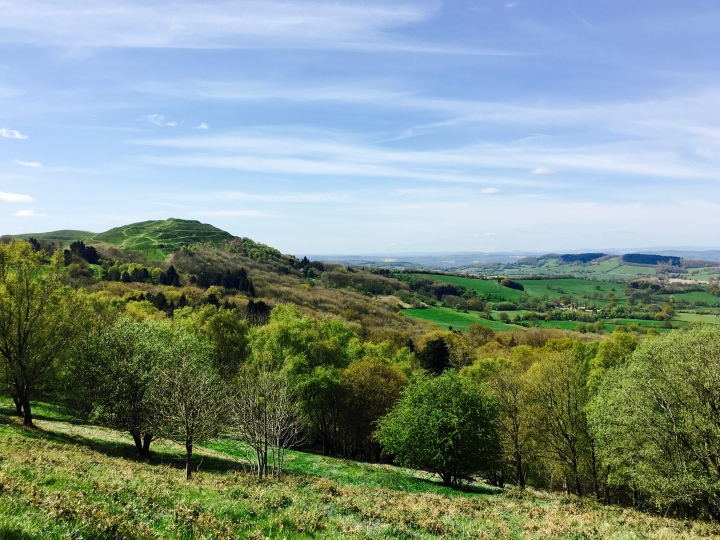 Looking towards British Camp on the Malvern Hills, Worcestershire.