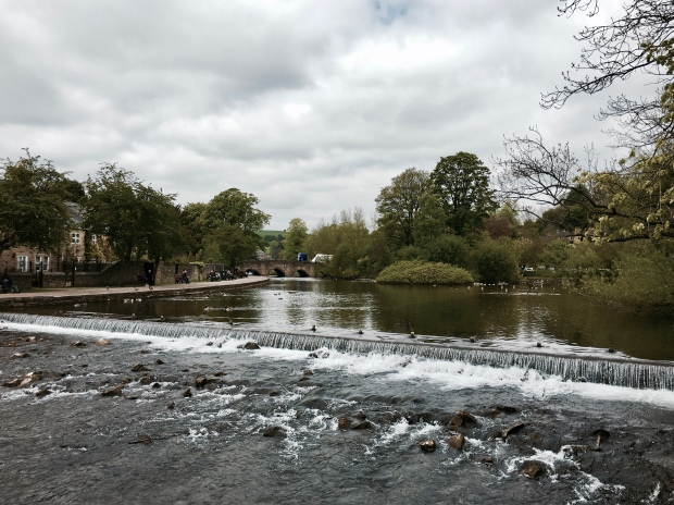 The Wye River at Bakewell, Derbyshire.