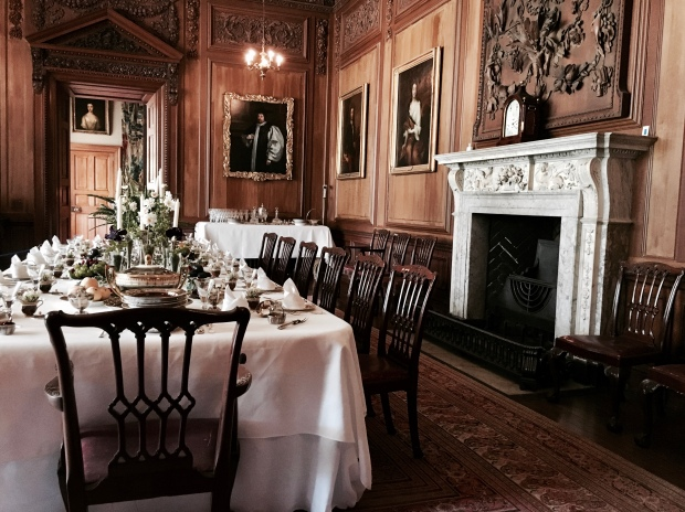 Dining hall at Lyme Park, Disley, Derbyshire.