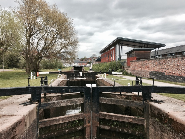 The Worcester to Birmingham Canal at Diglis.
