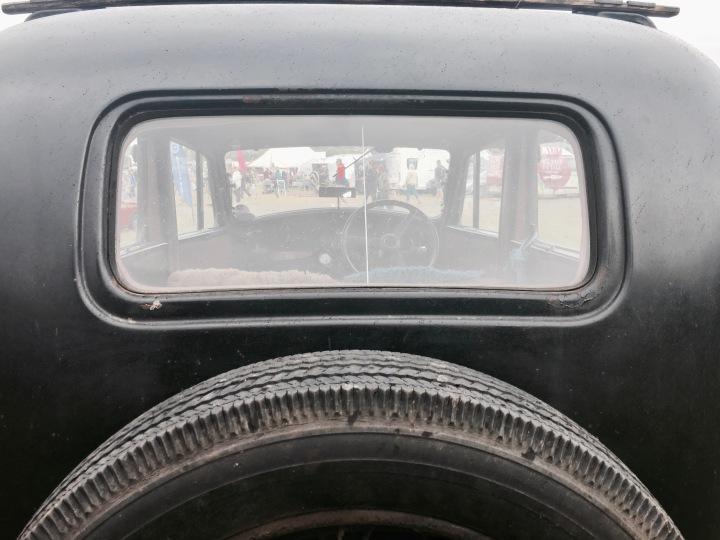 Vintage car on display at Asparafest, Evesham, Worcestershire.