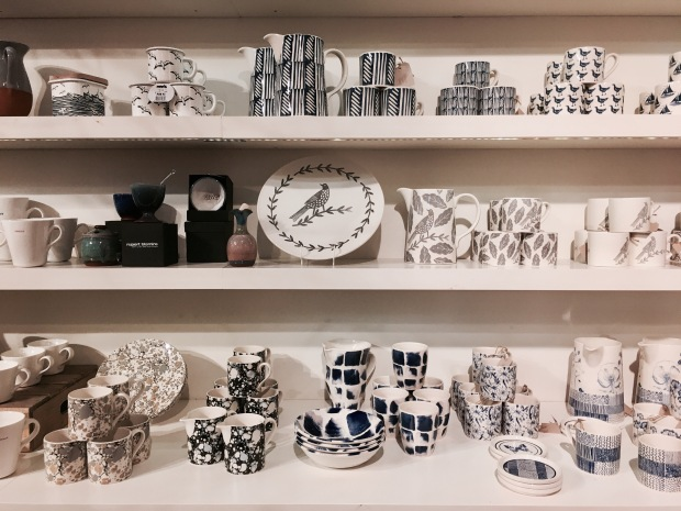 Homewares on sale at Tebay Services, Cumbria, England.