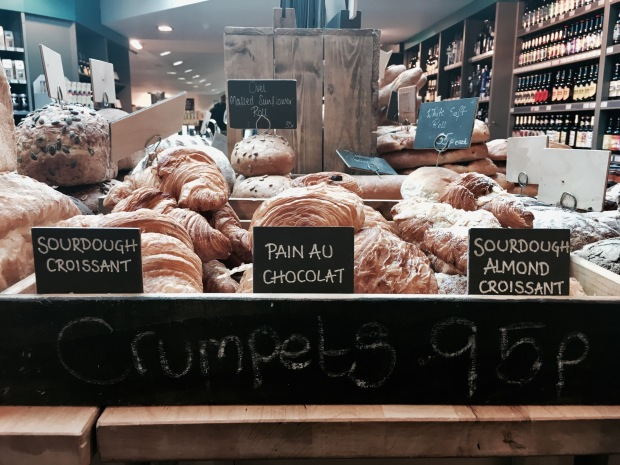Bakery section at Tebay Services Farm Shop, Cumbria, England.