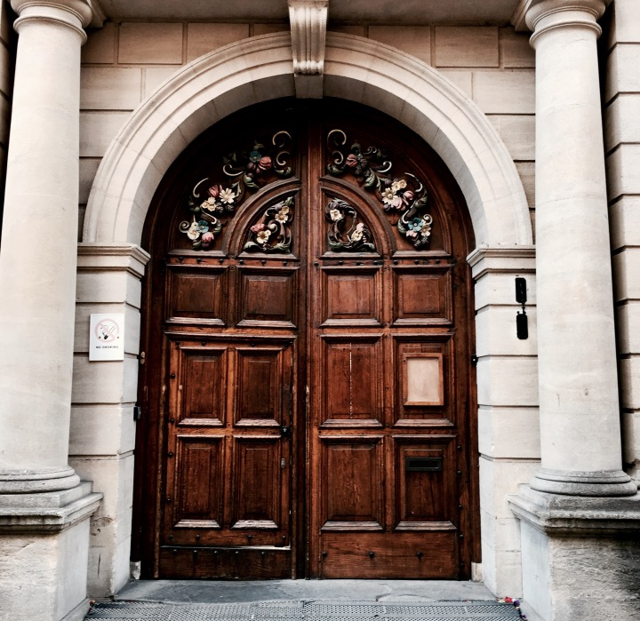 Entrance to Hertford College, Oxford, England.