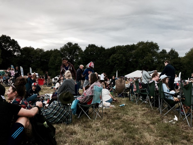 The crowd at West Fest, Malvern, Worcestershire, England.