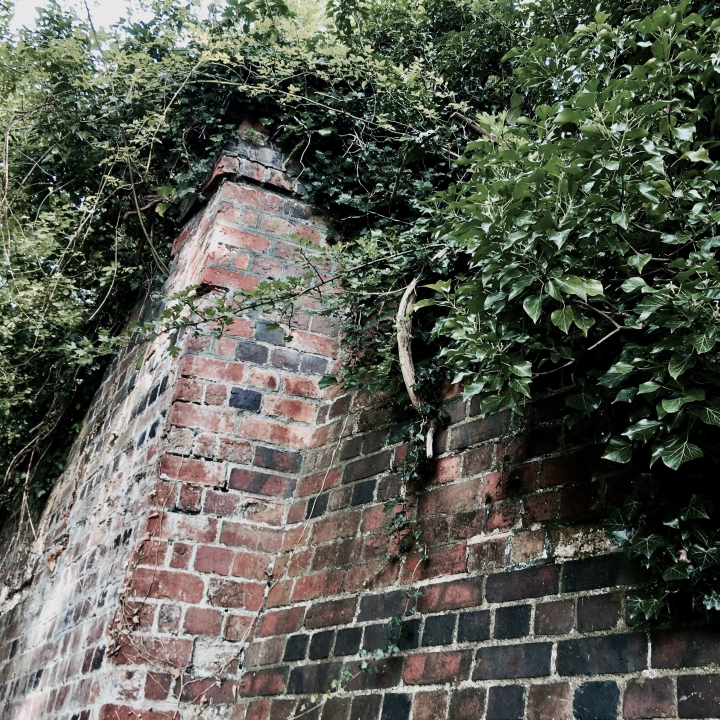 Old brickwork from the former Malvern to Ashchurch rail line.