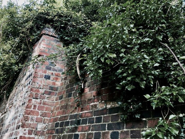 Old brickwork from the former Malvern to Ashchurch rail line.