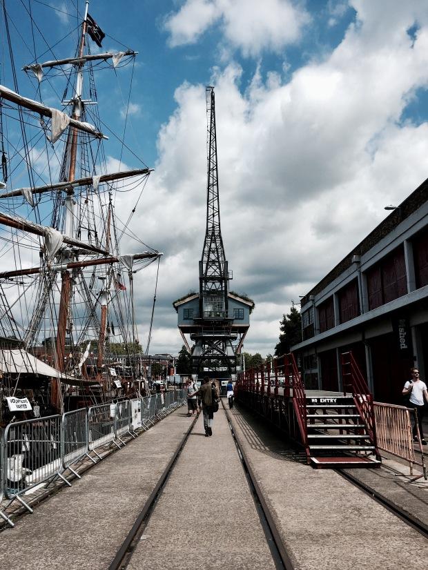 Crane on Spike Island, Bristol Harbour.