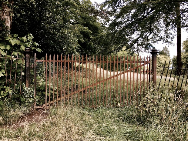 Gate on the Malvern Common, Worcestershire, England.