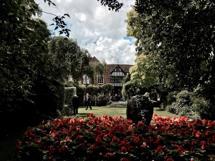 The garden at National Trust property, Greyfriars' in Worcester, Worcestershire.