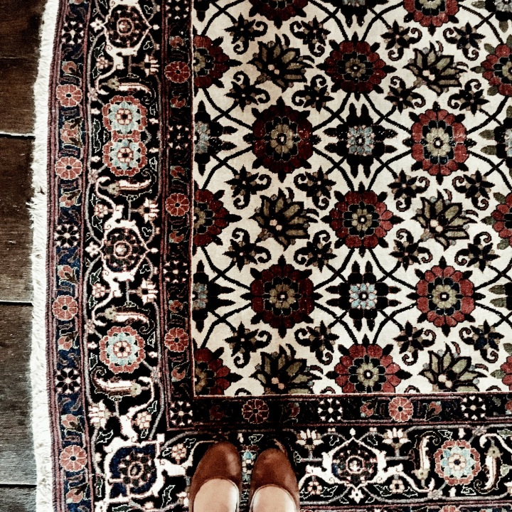 Carpet in National Trust property, Greyfriars' in Worcester, Worcestershire.