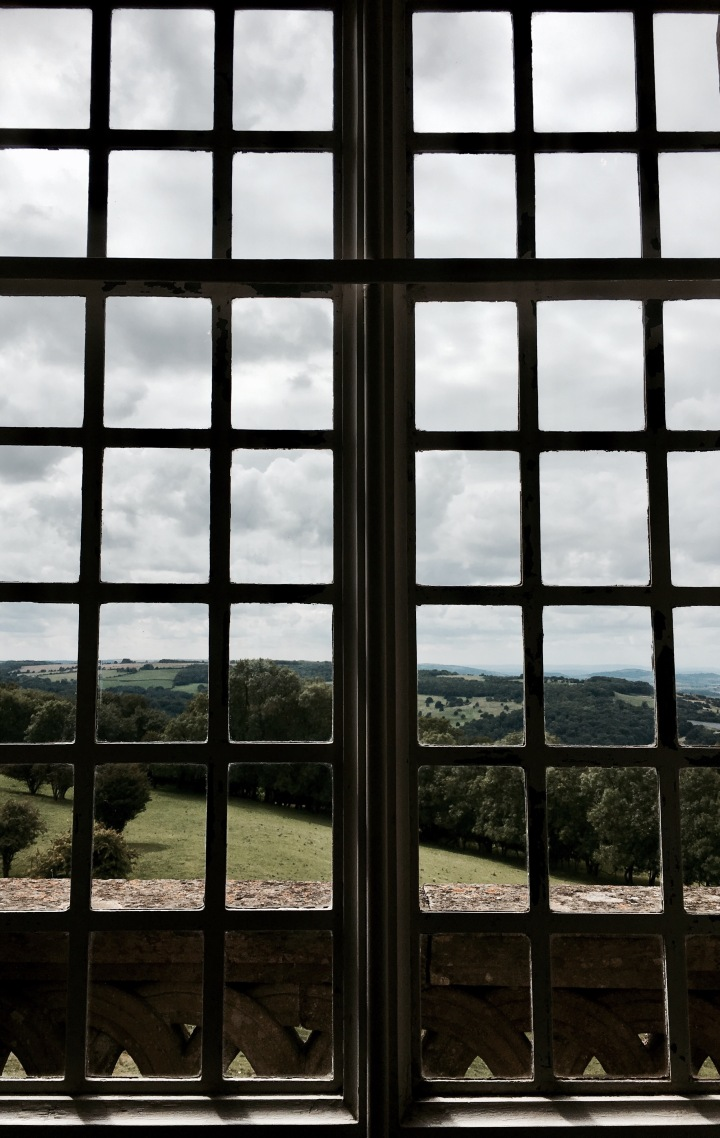 View out of Broadway Tower, Worcestershire, England.