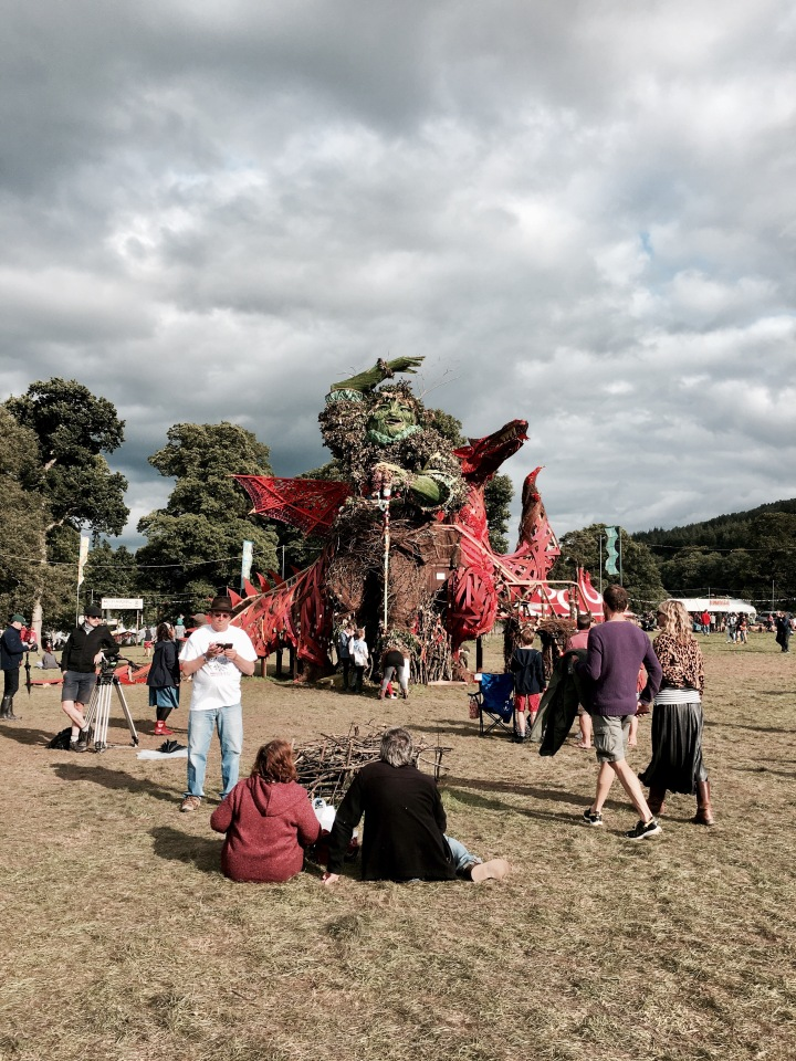 The 'Green Man' at the Green Man festival in Wales.