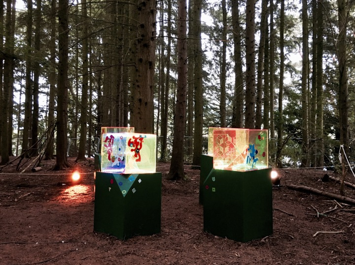 Art installation at the Green Man festival in Wales.