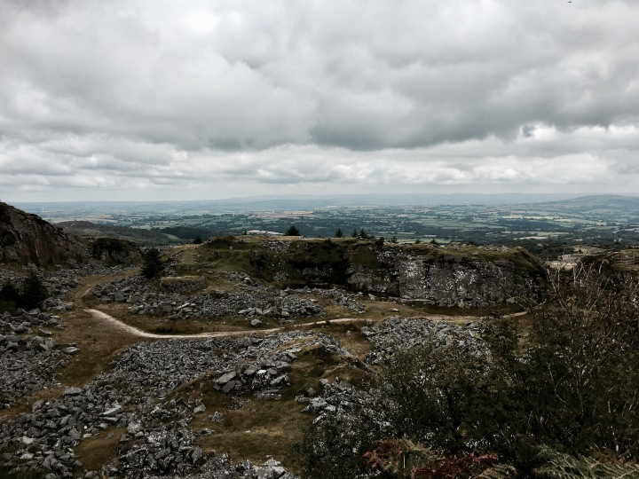 The former Cheesewring Quarry, Bodmin Moor, Cornwall, England.