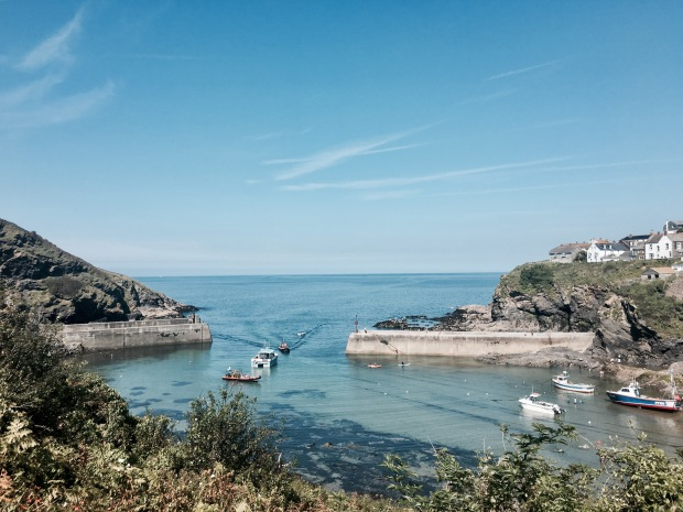 The harbour at Port Isaac, Cornwall, England.
