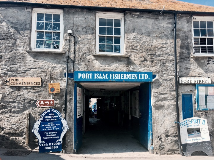The Port Isaac Fishing Co-Op in Cornwall, England.
