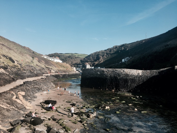 Boscastle Harbour in Cornwall, England.
