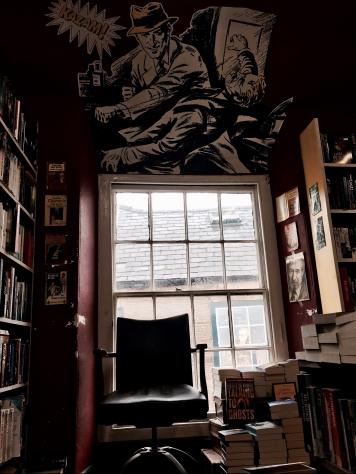 Murder and Mayhem book shop in Hay-on-Wye, Wales.
