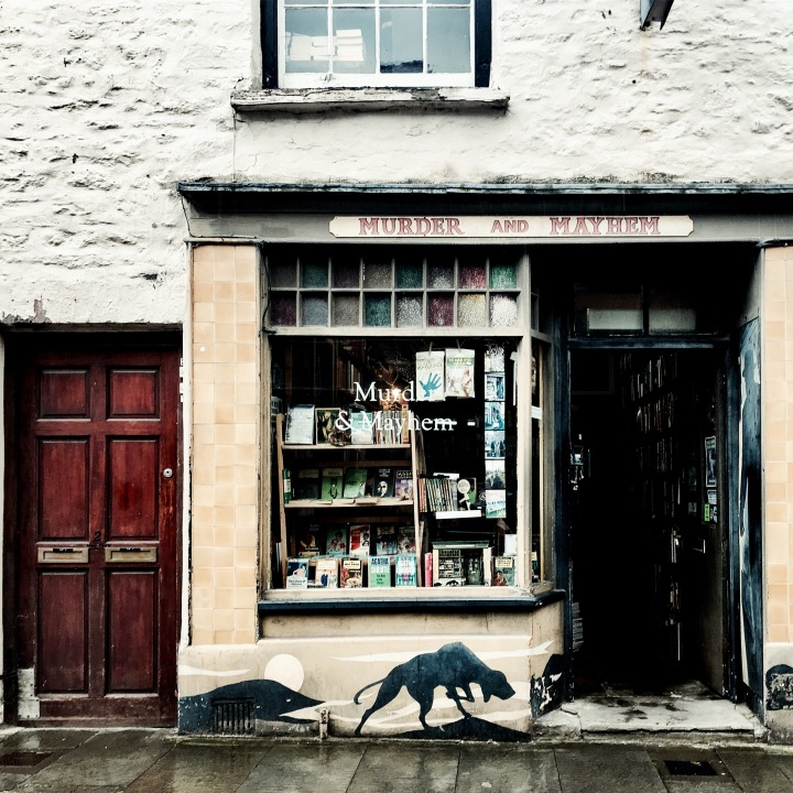 Murder and Mayhem book shop in Hay-on-Wye, Wales.