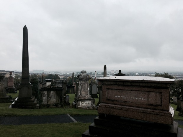 The Glasgow Necropolis in Scotland.