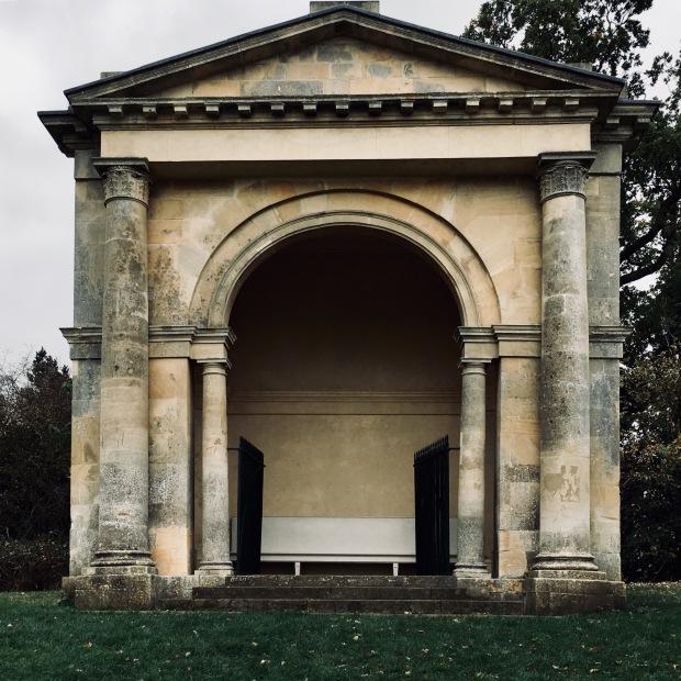 Stone pavilion at Croome Park, Worcestershire, England.
