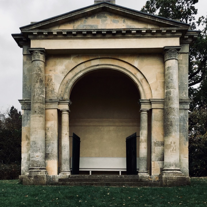 Stone pavilion at Croome Park, Worcestershire, England.