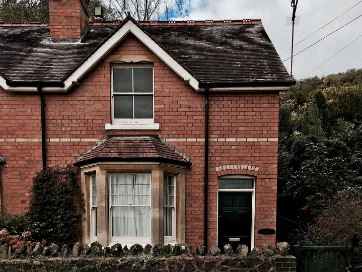 House on Holywell Road, Malvern, Worcestershire, England.
